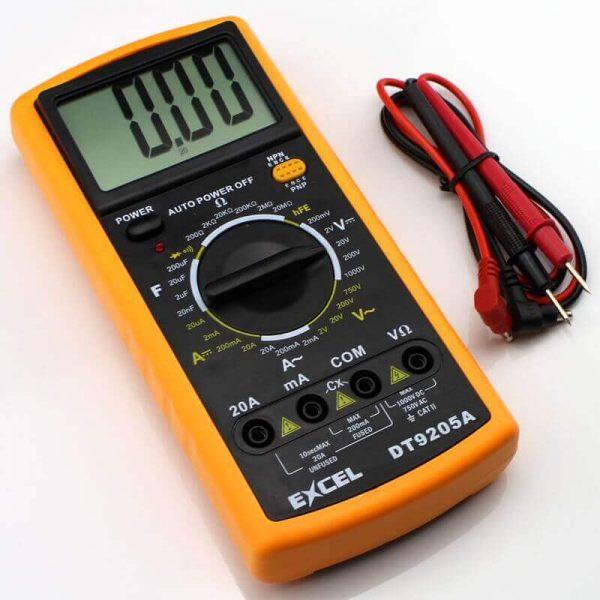 مولتی متر دیجیتالی DT-9205A مارک EXCEL |